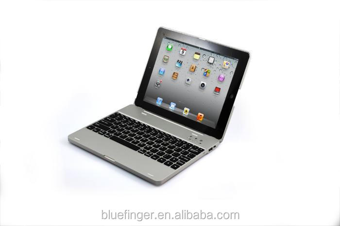 Power bank wireless Bluetooth keyboard case for iPad234 with 4000mah battery,rechargable folio calmshell Bluetooth keyboard