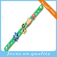 children souvenirs holiday gift decoration Green soft rubber pvc creative wrist band with icons BTS souvenirs