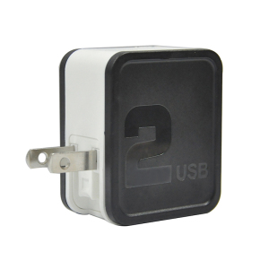 Cubic folding plug 2.1A/3.4A 2 USB wall charger for USA