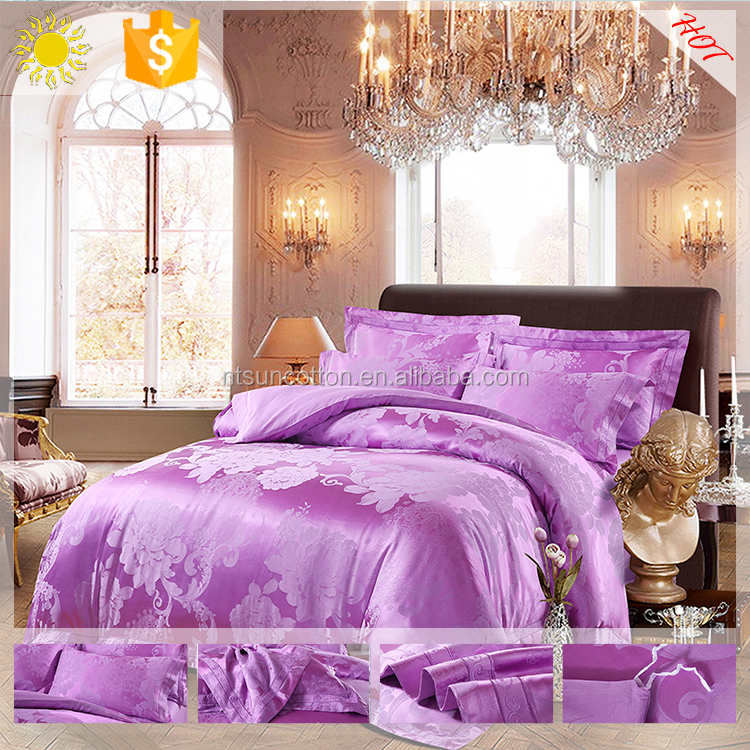 King Size 3d quilt bedding set made in india bedding