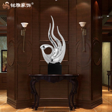 Guangzhou Mingya electroplated polyresin figurine for hotel lobby table decoration