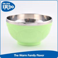 Professional design plastic PP outer and stainless steel decorative bowl for noodle