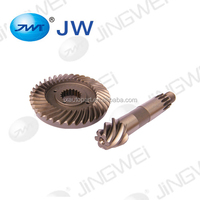 Spiral bevel gear forklift gearbox auto parts oem steel spiral bevel gear