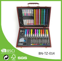57pcs Sketch And Drawing Artist Set Wood Case