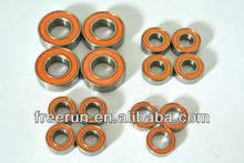 High Performance GS RACING AVENGER VISION PRO steel bearing kits with different rubber seal color