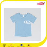OEM Fancy blue High quality knit wear cotton baseball tee shirts custom print tee