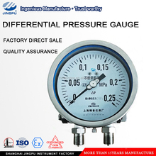 "All Stainless Steel Bellows Differential Pressure Gauges with 2"" Pipe Back Panel Mounting"