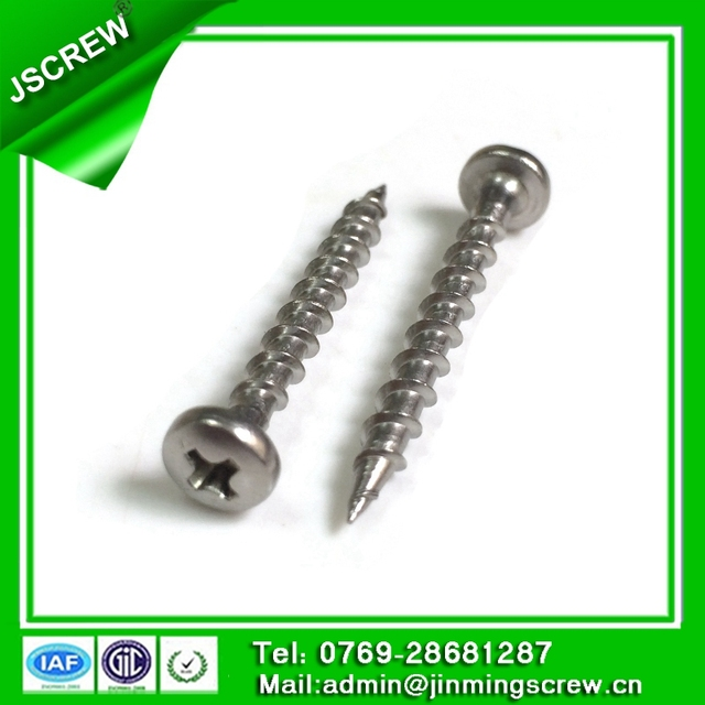 Stainless steel phillips binding head fine thread self tapping screw