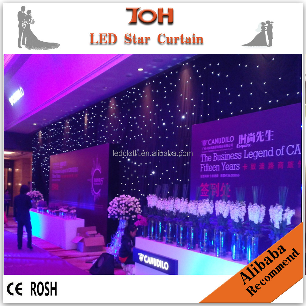Wedding lighted columns wholesale led star curtain /cloth