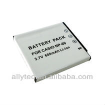 Digital camera lithium battery NP-60 for casio Exilim EXZ80BK