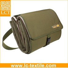 wholesale unique design softest polar fleece foldable backpack blanket with costom logo printed for camping/travel(LCTM0065)