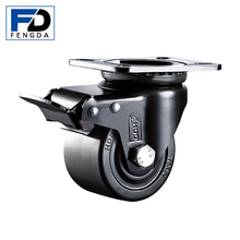 2.5 inch Double ball bearing heavy duty low gravity trundle caster bed wheels