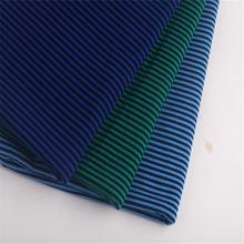 summer latest narrow stripe shirt cotton lycra knitted fabric