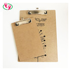 Quality A4 Size Customized Logo printed Wooden MDF Clipboard with Hanger