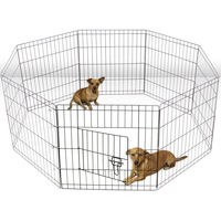 "30""Tall Dog Crate Fence Pet Play Pen Exercise Cage -8 Panel Metal Dog Pet Playpen"