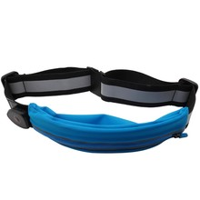 Multifunctional High Quality Adjustable LED Light Running Waist Belt Outdoor Elastic Waist Pouch Bag With Single Pocket