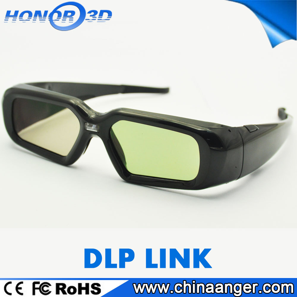 Hot Sale 2017 Active DLP Link Shutter Circular Polarized 3D Glasses For Cinema Blue Film Video Open Sex Video For Projector