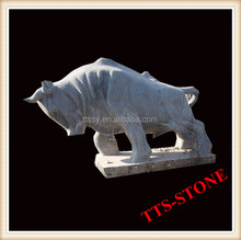 Bull Fighting Stone Statue