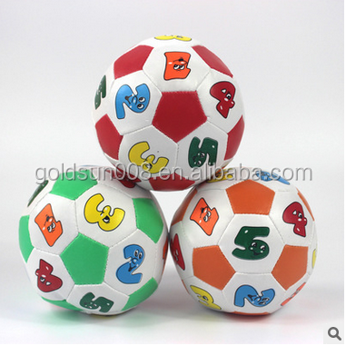 Baby Intelligent PU Ball Wth Figures And Pictures Space Hopper Ball High Quality Children ToyBalls PU Cheap Soccer Ball