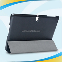Wholesale price triple folded stand case for galaxy tab s 10.5,OEM accept