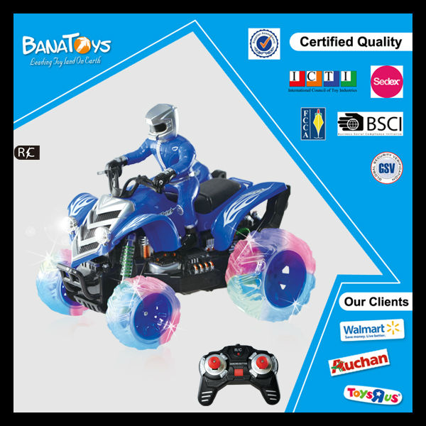 Hot item 9 Functions 4 wheel toy with pdq motocycle for kids