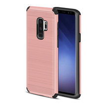 Shockproof High Protective 2 Layer TPU PC Brushd Rugged Cover For Samsung Galaxy S9 S9 Plus Case Metal