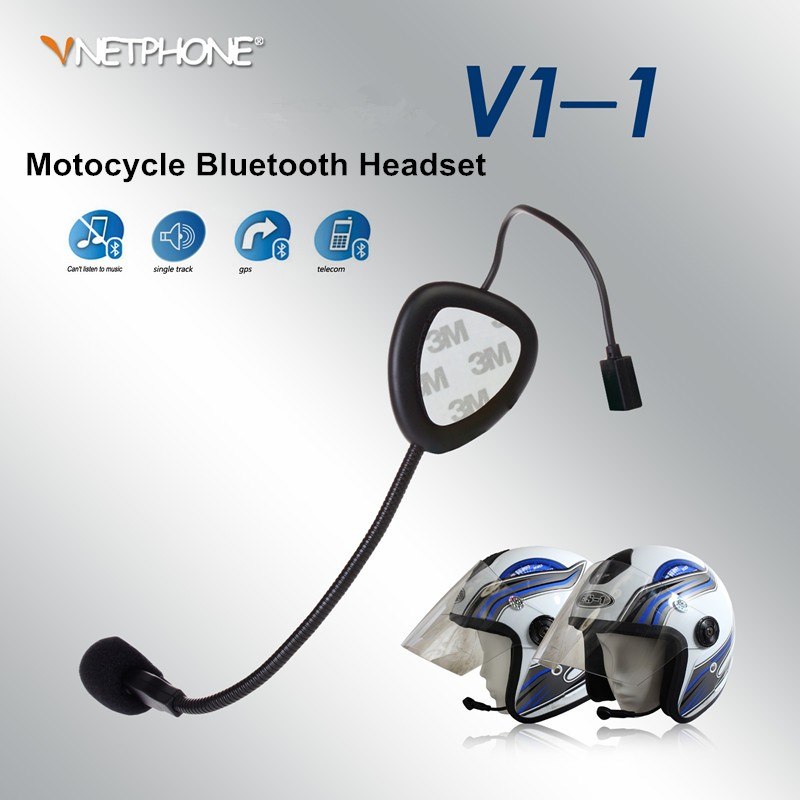 Factory price!Vnetphone V1-1 Motorcycle helmet bluetooth headset mini bluetooth earphone headset microphone