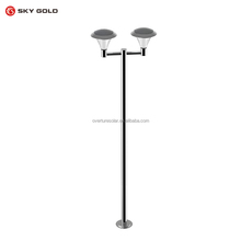 High Quality Led Path Lights 15pcs White LED/4 brightness mode/ stainless steel solar powered outdoor lighting for Garden Pathwa