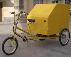 Pedal and Electric Cargo Trike with steel cargo box