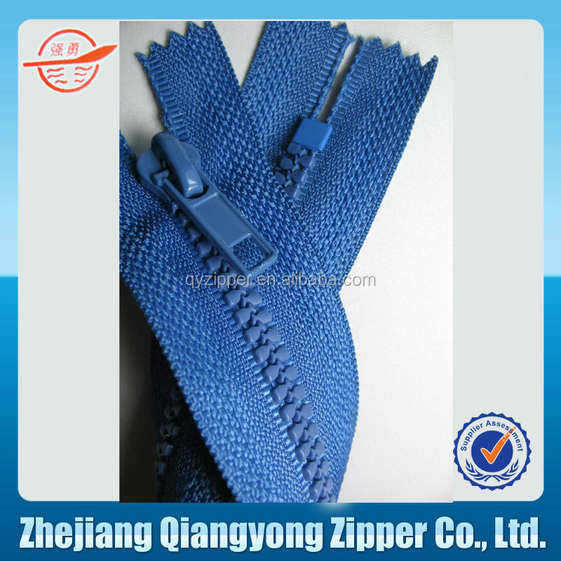#5 plastic sheet zipper fro luggage accessory