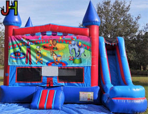 Colorful inflatable bouncer and slide combo inflatable jumping castle combo