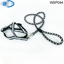 round braided leather dog collars and leashes for many kinds of dog