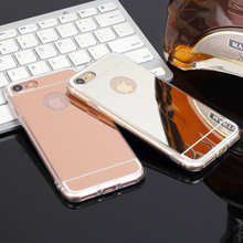 Fancy new designer TPU metal plating reflective mirror phone cover