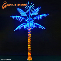 Tropical artificial tree light decorations/led coconut tree