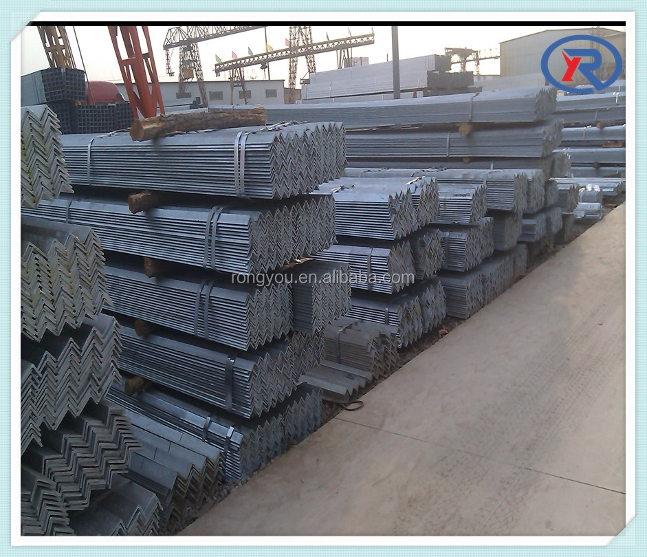 black and hot dipped galvanized equal leg angle steel /mild steel angle iron
