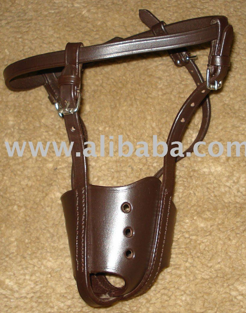 Adjustable Leather Muzzle