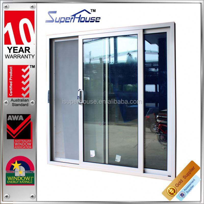 Big vision aluminium customized sliding office glass door with Australia AS2047 Standard