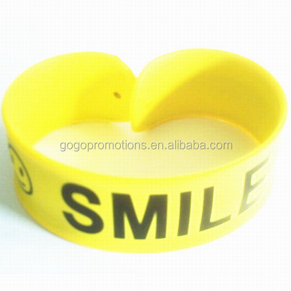 100% Pure Silicone Smiley Slap Mosquito Repellent Bracelet