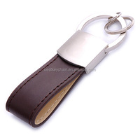 custom metal key chain with bmw leather keychain