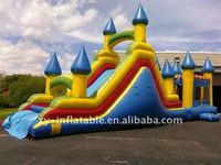 Inflatable slide&climb bounce with combo house