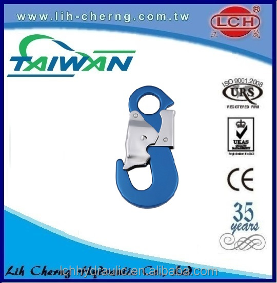 50mm 3000kg double j wire hook Locking Carabiner small j hook