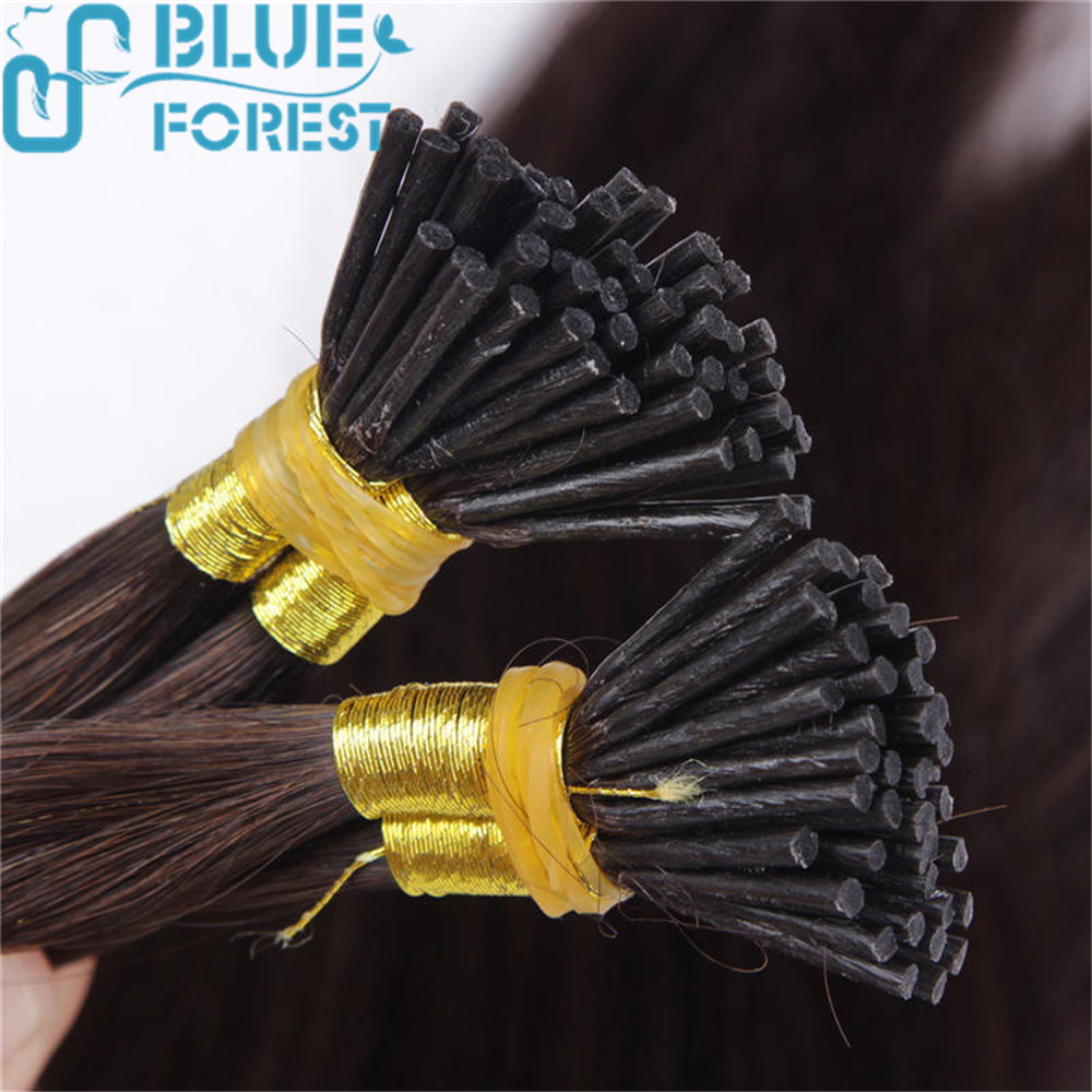 I Tip Human Hair Extensions Remy Human Hair Extension Dark Color Easy Remove Large Stocks Fast Shipping