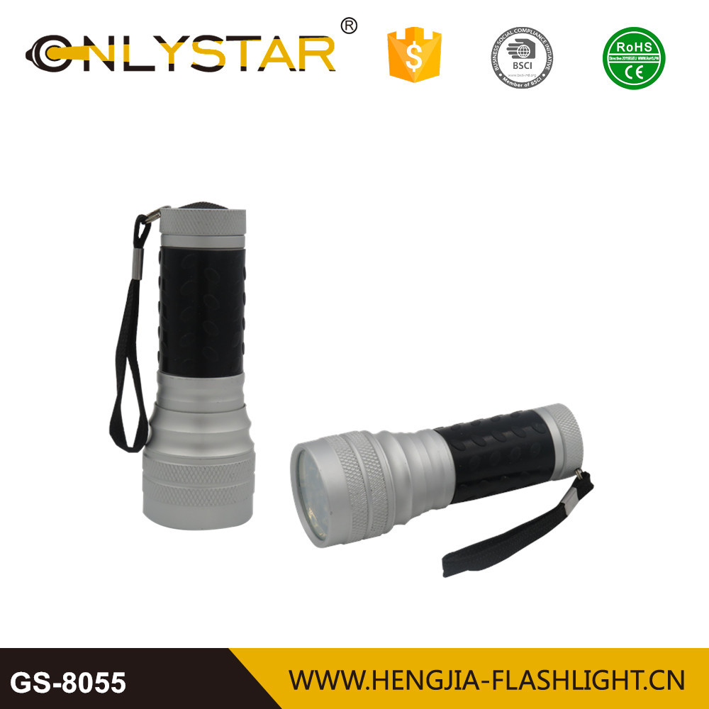 Factory custom made aluminum 16 led mouth flashlight