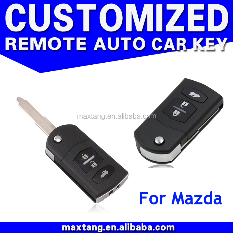 For Mazda 3 Buttons Replacement Smart Remote Car Key Shell Case Fob Flip Remote Key Shell Case