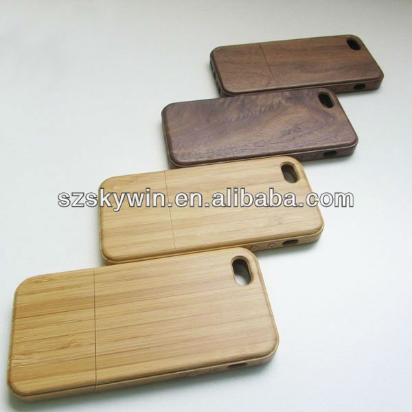 Real Natural Bamboo Wooden blank plain phone cases for all iphones