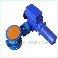 Gear operated ball valve, brass ball valve with lock water meter