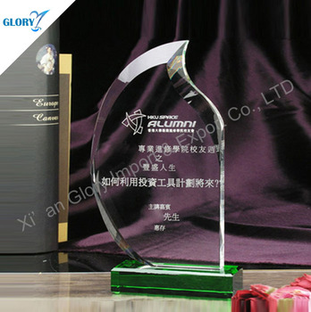 New Design Blank Crystal Flame Award for Souvenir