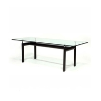 Le Corbusier LC6 Glass Dining Table