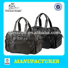 male top grade PU leather travelling bags with large capacity