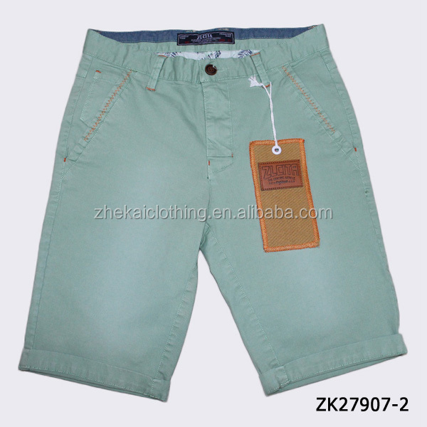 2016 fashion wholesale cheap mens bermuda shorts with Rolled Up Bottom